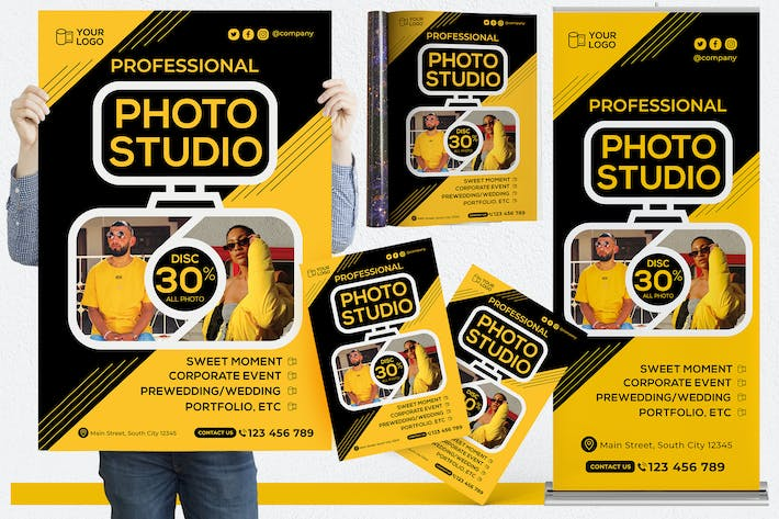 Thumbnail for Photography Studio #01 Print Templates Pack