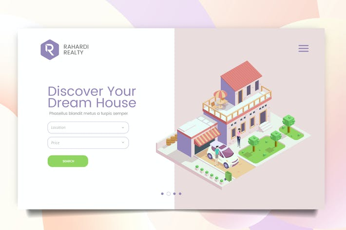 Thumbnail for Mortgage Solution Web Header PSD Template Vol. 03
