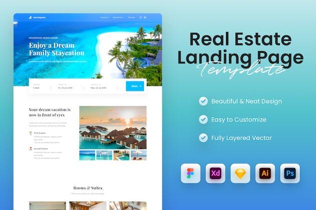 Travel & Resort Landing Page Template