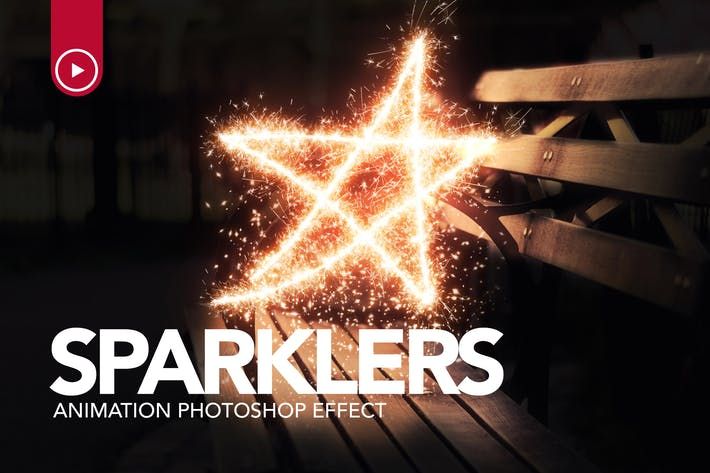 Thumbnail for Sparklers Animation Photoshop Action
