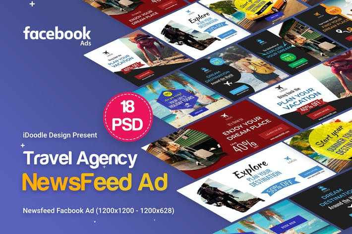 Thumbnail for Travel NewsFeed Facebook Ad