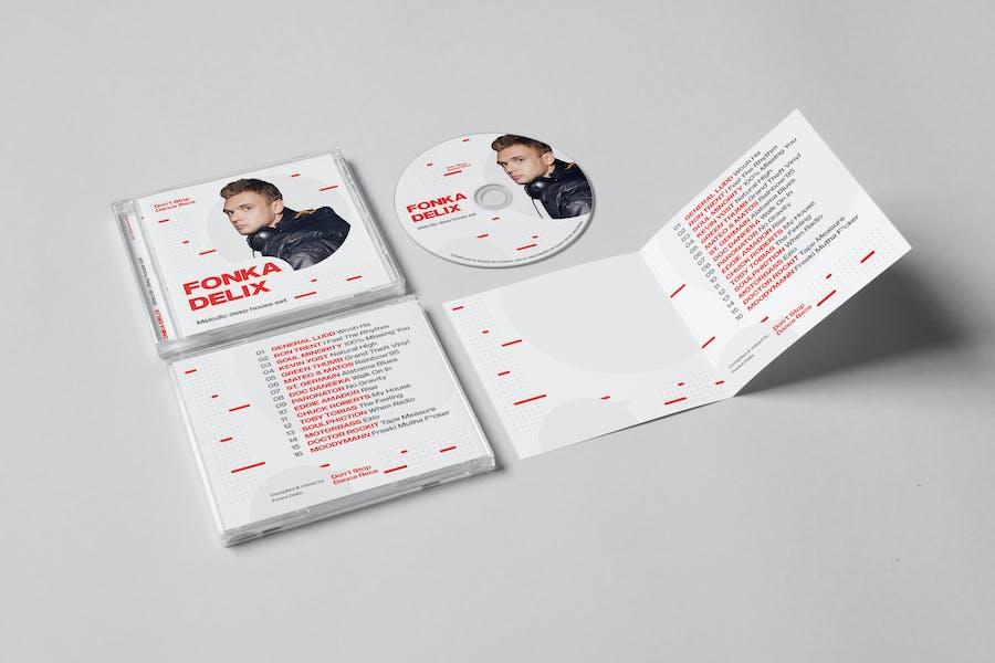 DJ Mix / Podcast / Album CD Cover Artwork Template