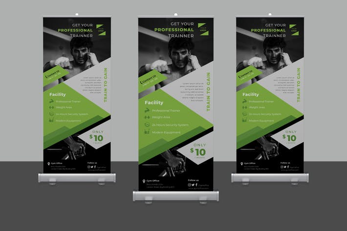 Thumbnail for Fitness Rollup Banner Promotion