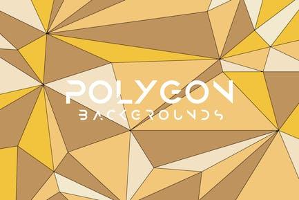 Bunte Vektor Polygon-Hintergründe