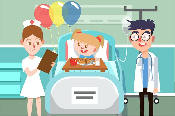 Thumbnail for Doctor with Patient - Vector illustration