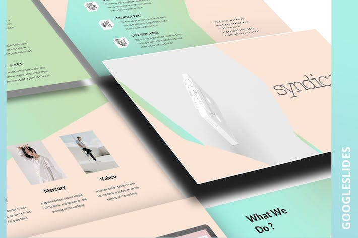 Thumbnail for Syndicale Google Slide Template