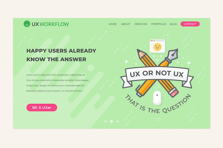 Thumbnail for UX or not UX - Web and Landing Page Banner