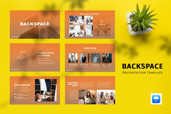 Thumbnail for Backspace - Business Keynote Template