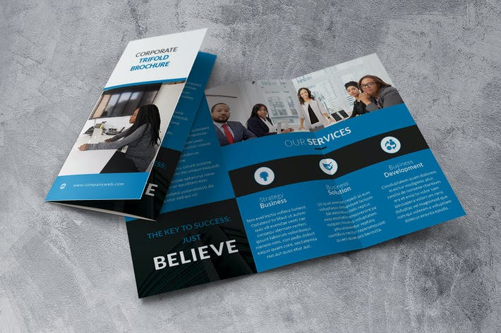 Thumbnail for Trifold Blue Brochure