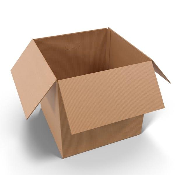 Thumbnail for Открытая картонная коробка