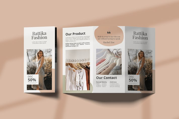 Thumbnail for Fashion Lookbook Trifold Brochure