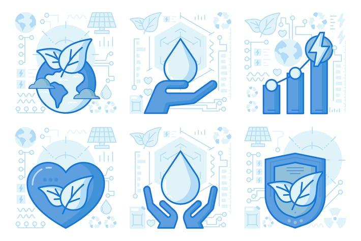 Thumbnail for UX Illustrationen für Ökologie Schutz