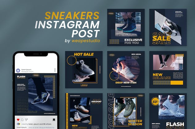 Sneakers Instagram Post Template
