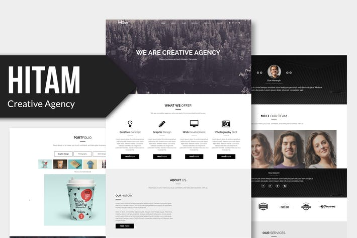 Thumbnail for Hitam - Onepage Muse Template