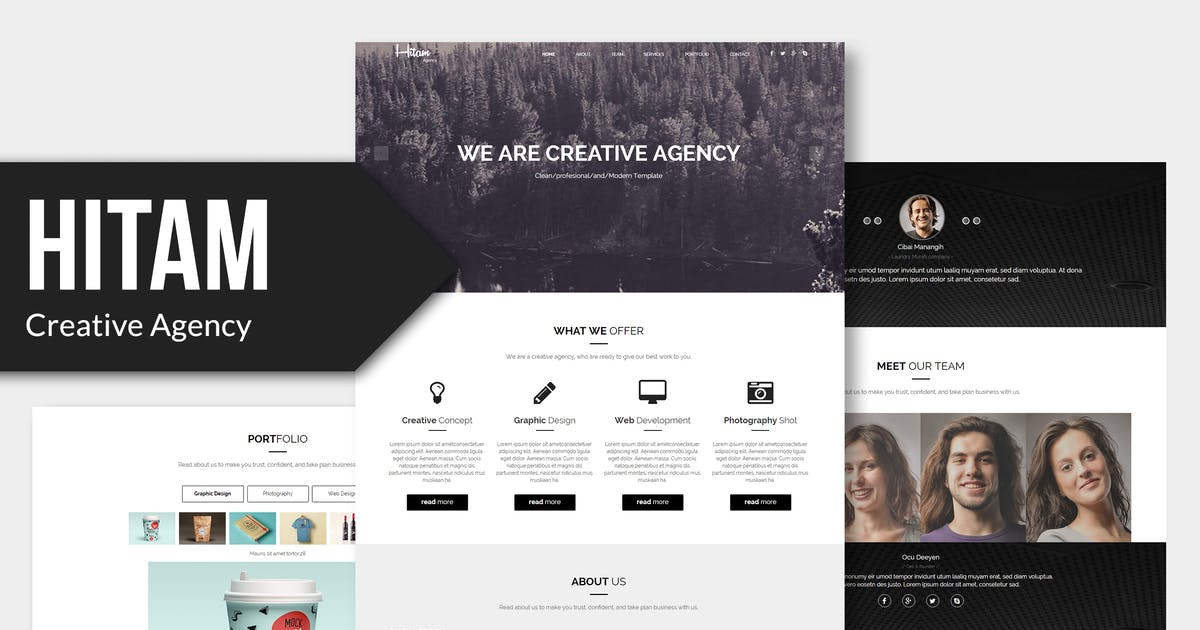 Download Hitam - Onepage Muse Template YR by Rometheme