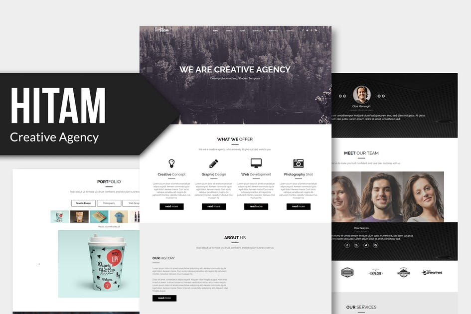 Download Hitam - Onepage Muse Template by Rometheme
