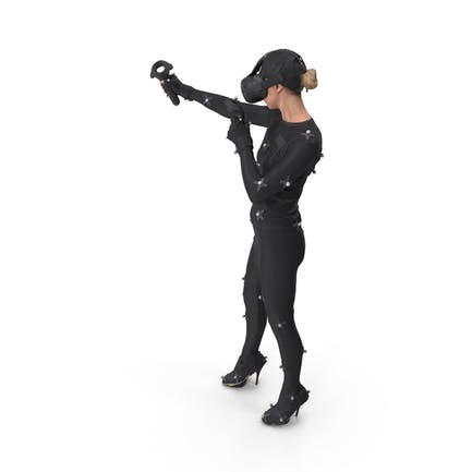 Woman Posed With VR