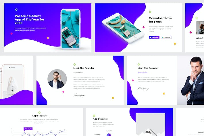 Thumbnail for Mobile App Powerpoint Presentation Template