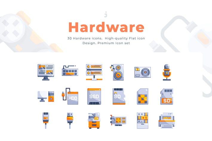 Thumbnail for 30 Hardware Icons - Flat