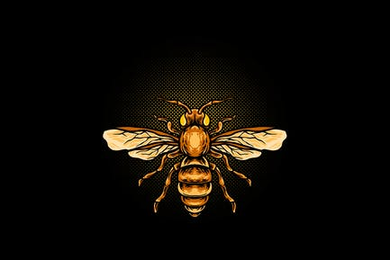 Honey bee animal illustration
