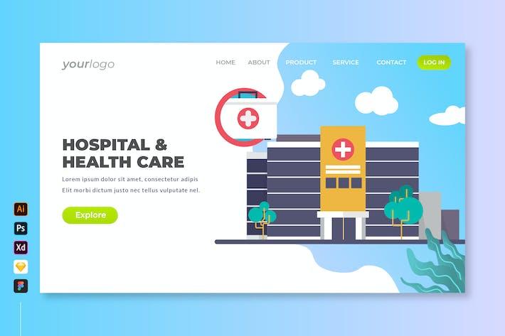 Hospital & Health Care - Landing Page