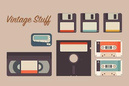 Vintage storage icon