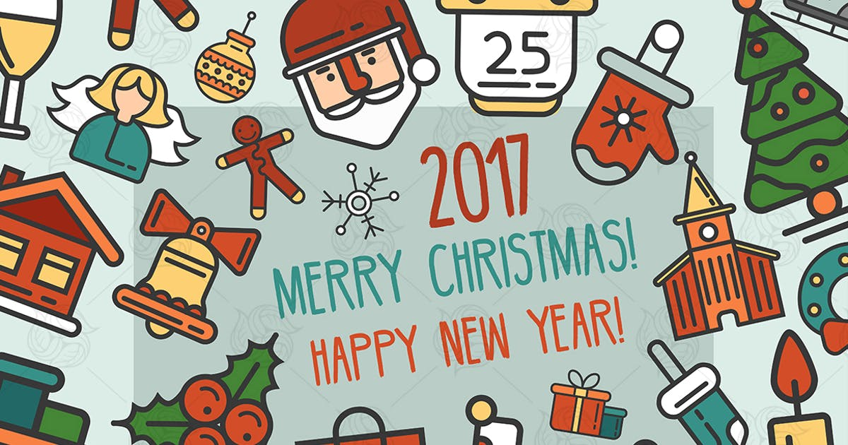 Merry Christmas & Happy New Year Postcard by BoykoPictures
