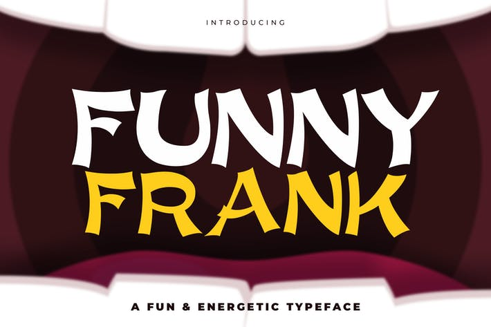 Thumbnail for Funny Frank - An Energetic and Quirky Typeface