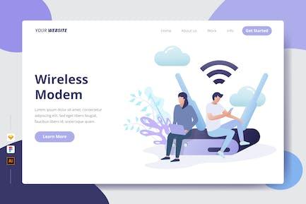 Wireless Modem - Landing page