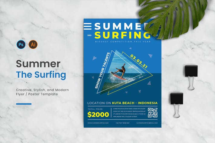 Summer Surfing Flyer