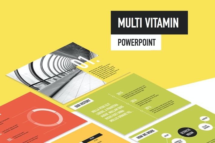 Thumbnail for Multi Vitamin PowerPoint Template