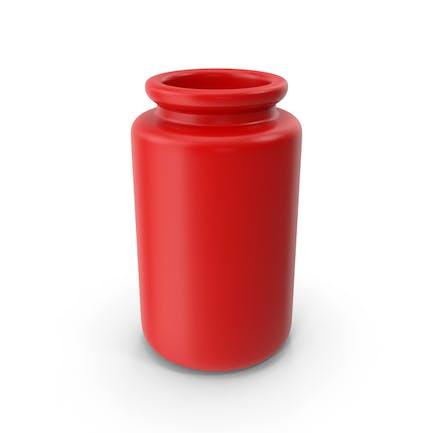 Ceramic Bottle Red