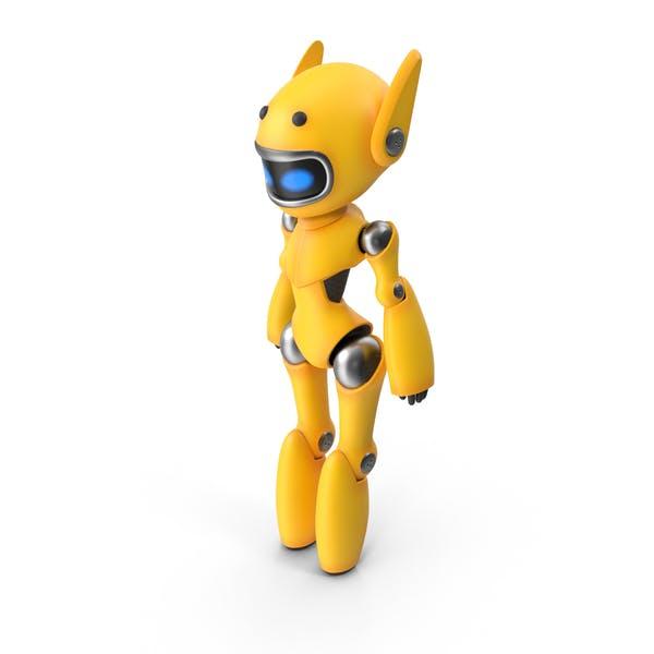 Yellow Cute Robot