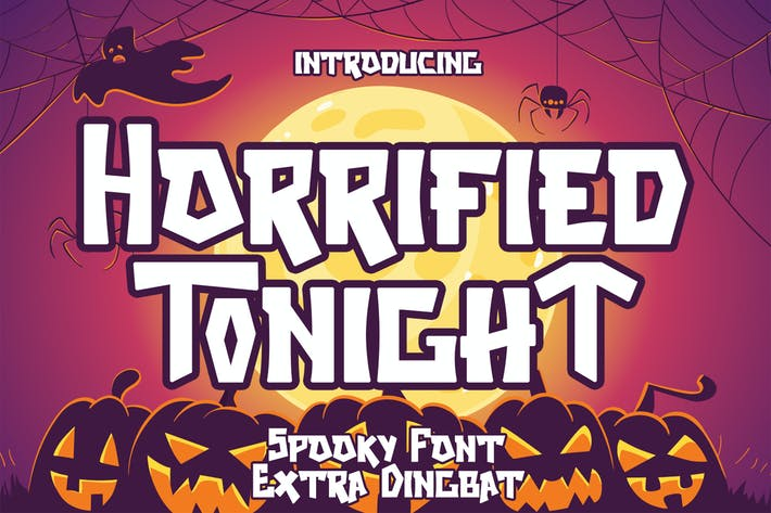 Thumbnail for Horrified Tonight - Halloween Font