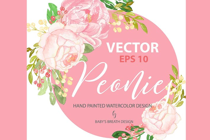 Thumbnail for Peony design VECTOR