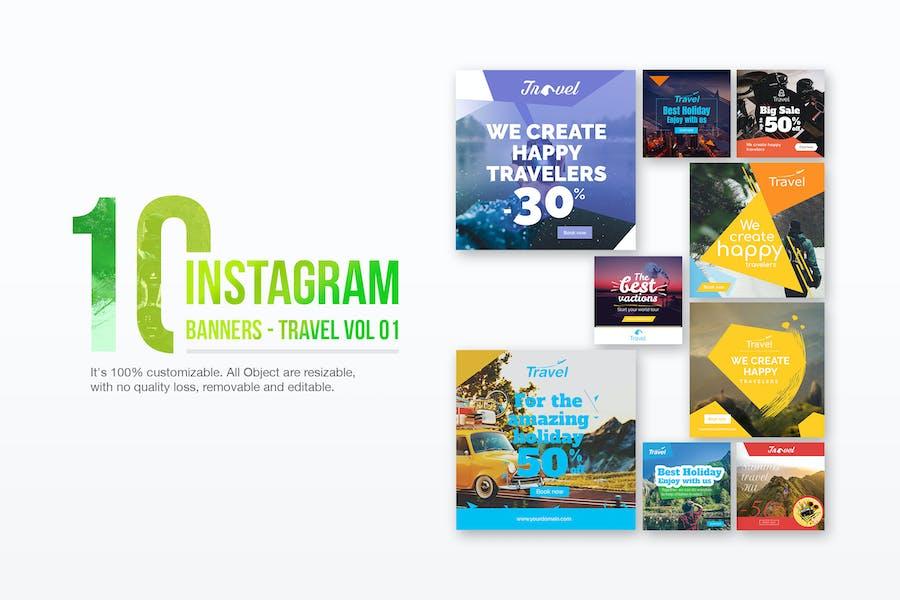 10 Instagram Post Banner-Travel 01