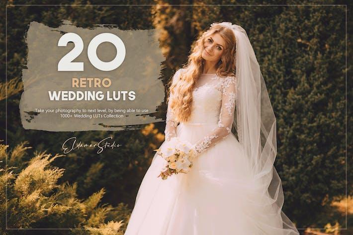 Набор из 20 ретро свадебных LUT