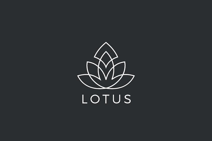 Thumbnail for Logo Lotus Flower plant abstract Luxury Linear