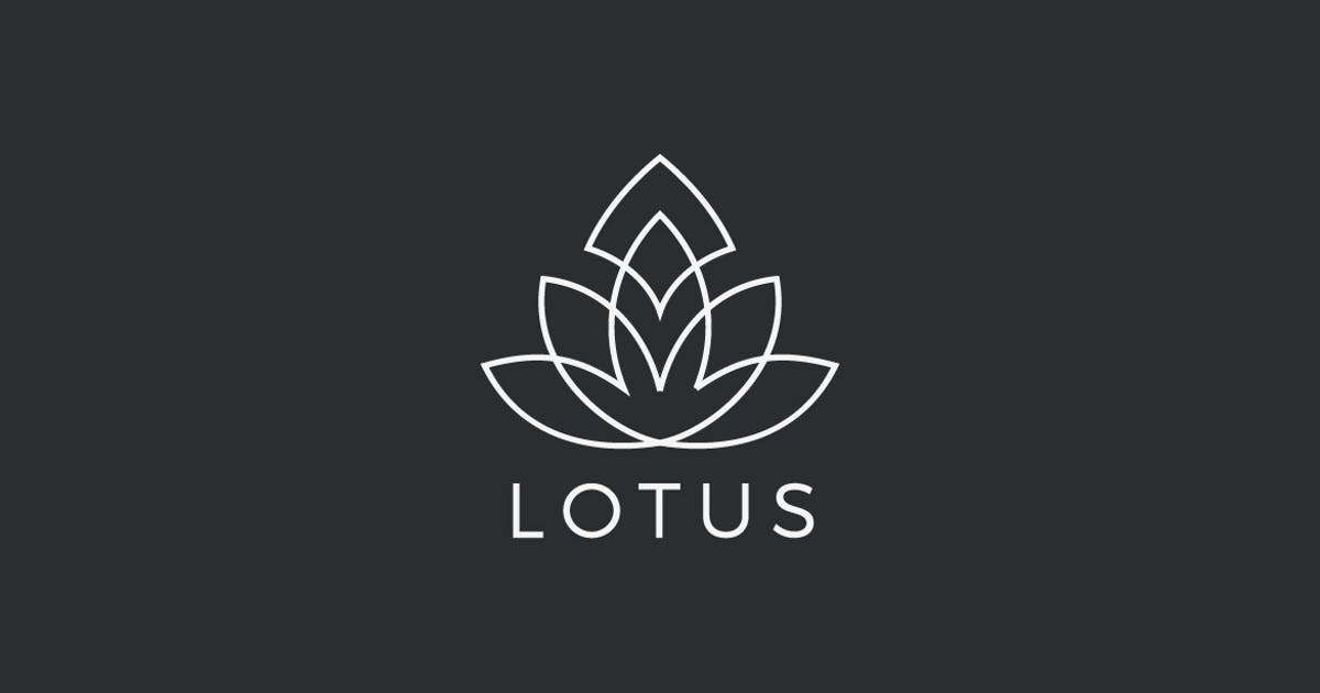 Logo Lotus Flower plant abstract Luxury Linear by Sentavio