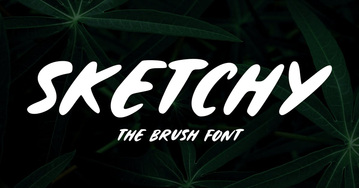 Download Sketchy - The Brush Font by Graphicfresh