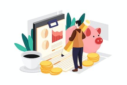 Businesswoman Making Budget Planning