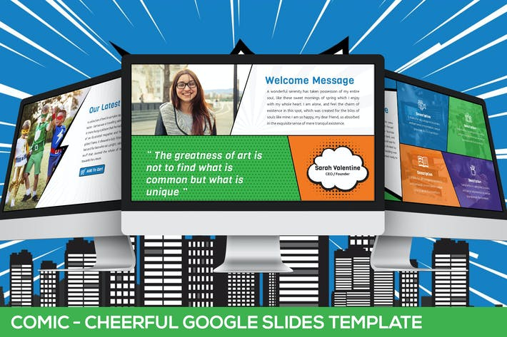 Cover Image For Comic - Fun Google Slides Presentation Template