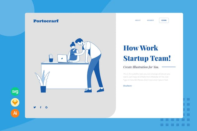 Review Work Team - Website Header - Illustration