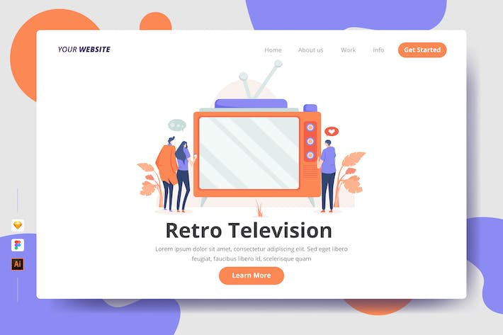 Thumbnail for Retro Television - Landing Page