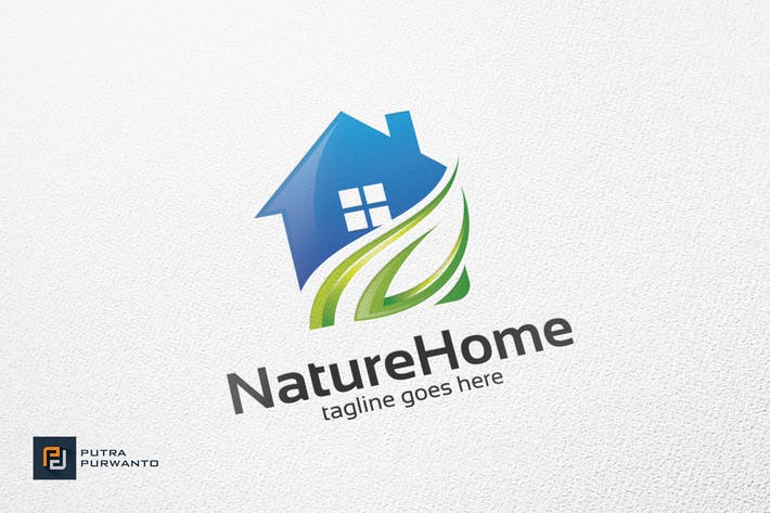Thumbnail for Nature Home - Logo Template