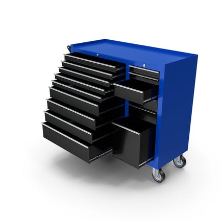 Opened Tool Box Blue New