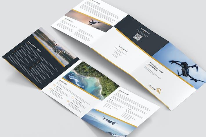 Thumbnail for Brochure – Drone Photographer Tri-Fold Square