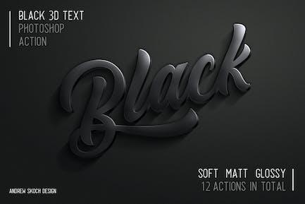 3D Black Photoshop Action