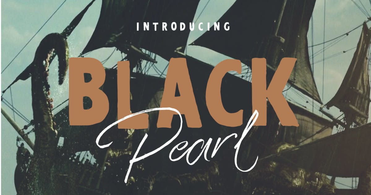 Download Black Pearl Font Duo + Extras by dirtylinestudio