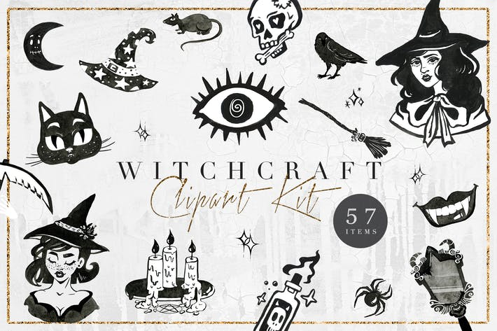 Witchcraft Clipart Magical Illustrations